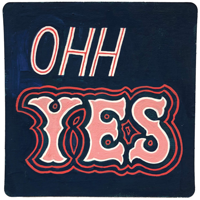 ohh yes handlettered art