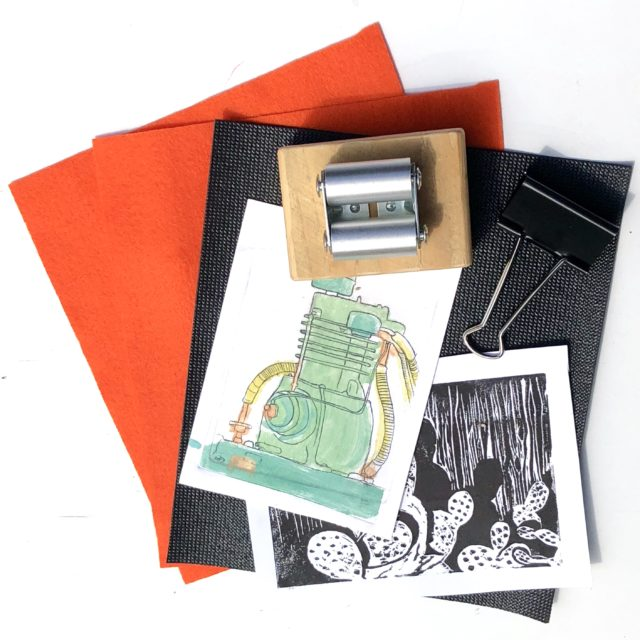 Pocket press for printmaking