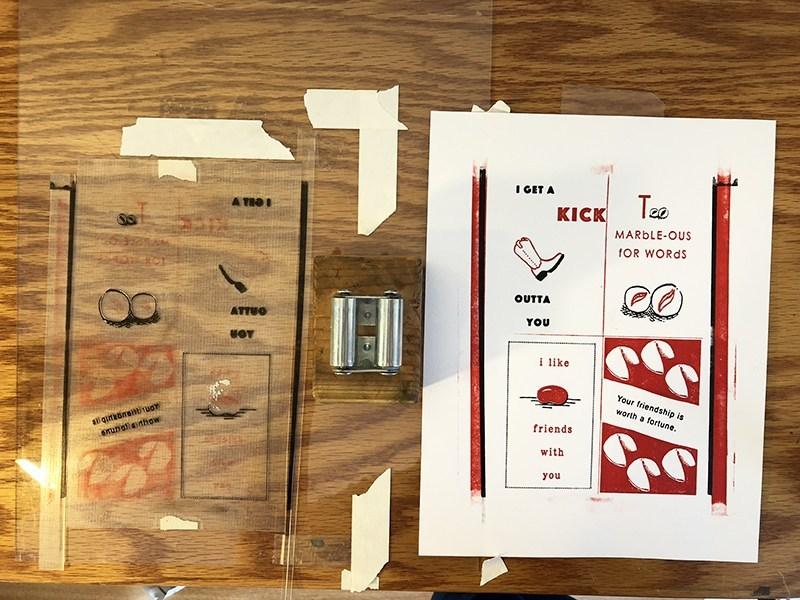 DIY Letterpress cards